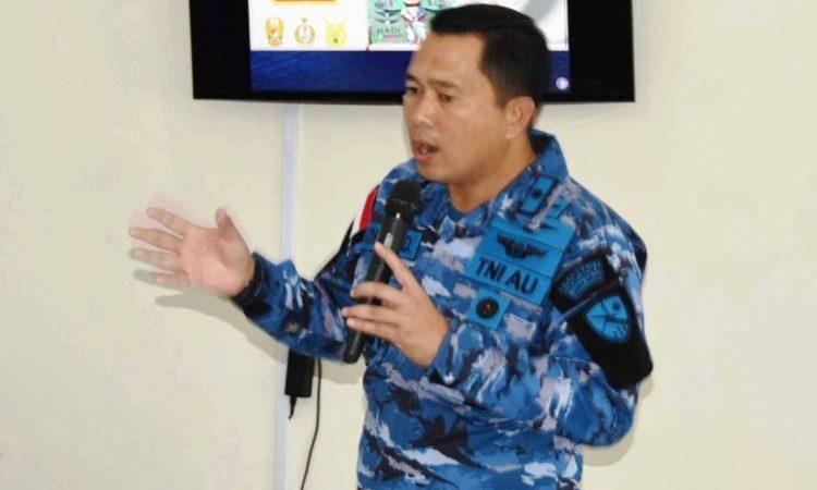 Komandan Lanud Raden Sadjad (Rsa) Kolonel Pnb Azhar Aditama menggelar acara Jumpa Pers
