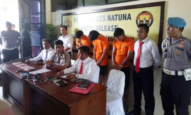 Wartakepri, 3 Pelaku Pencurian dan Pembobolan Rumah Berhasil Diamankan Polres Natuna
